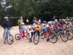 Dětský den - závody na kolech